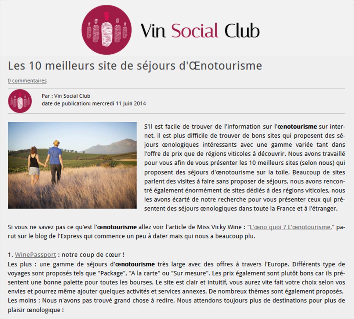 Wine passport lu meilleur site de s jours d 39 oenotourisme for Meilleur site reservation sejour